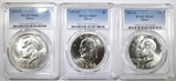 LOT OF 3 PCGS GRADED SILVER IKES