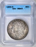 1899-O MORGAN DOLLAR ICG MS-64