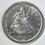 1875-S TWENTY CENT PIECE BU