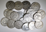 $10.00 FACE VALUE MIXED 90% SILVER HALF DO0LLARS