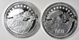 2-2nd AMENDMENT 1oz SILVER ROUNDS