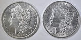 1886 & 1897 MORGAN DOLLARS  BU