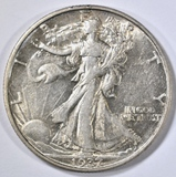 1937-D WALKING LIBERTY HALF XF/AU