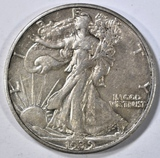1939-S WALKING LIBERTY HALF AU