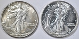 1942-P,D WALKING LIBERTY HALVES AU/BU