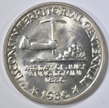 1936 WISCONSIN COMMEM HALF DOLLAR  CH BU