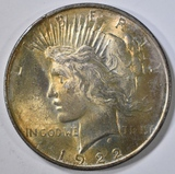 1922 PEACE DOLLAR  GEM BU  COLOR