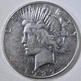 1927-S PEACE DOLLAR  XF+