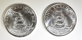 2 1 OZ .999 SILVER BOSTON TEA PARTY COINS