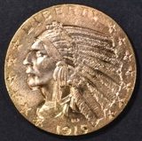 1915 $5 GOLD INDIAN CH BU