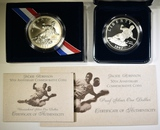 SET OF 2 1997 JACKIE ROBINSON COMMEM DOLLARS