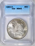 1884-O MORGAN DOLLAR ICG MS-65