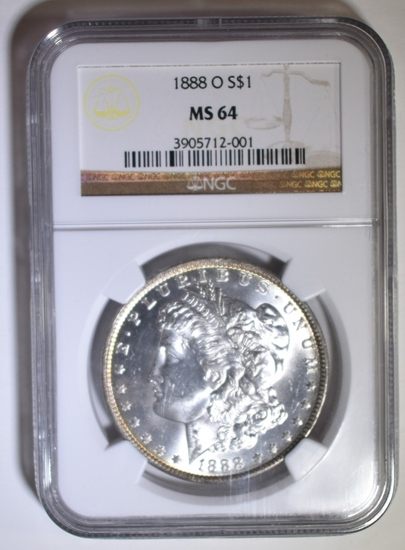 1888-O MORGAN DOLLAR NGC MS-64