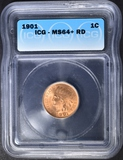 1901 INDIAN CENT  ICG MS-64+ RD