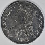 1825 BUST HALF DOLLAR  AU