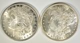 2 1921 MORGAN DOLLARS CH BU