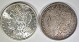 1881-S & 82-O MORGAN DOLLARS  CH BU