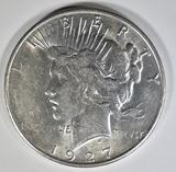 1927-S PEACE DOLLAR  CH AU