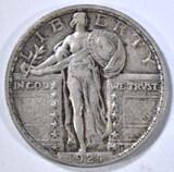 1924 STANDING LIBERTY QUARTER XF/AU