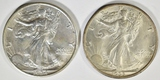 1934 & 35 WALKING LIBERTY HALF DOLLARS AU/BU