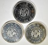 3-1964 CH BU CANADIAN SILVER DOLLARS
