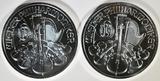 2-2009 AUSTRIA 1oz SILVER PHILHARMONIC COINS