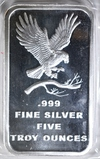 FIVE OUNCE .999 SILVER BAR SILVERTOWNE