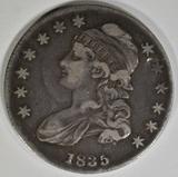 1835 BUST HALF DOLLAR XF