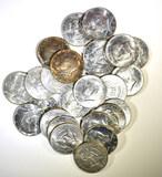 25- CIRC 40% SILVER KENNEDY HALF DOLLARS