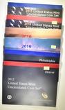 2010, 2012 & 2013 U.S. MINT UNCIRCULATED SETS