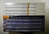 U.S. MINT PRESIDENTIAL DOLLAR PROOF SETS