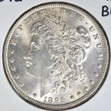 1896 MORGAN DOLLAR  GEM BU