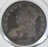 1827 BUST HALF DOLLAR  VG