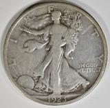 1923-S WALKING LIBERTY HALF DOLLAR F/VF