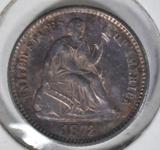 1873 SEATED LIBERTY HALF DIME  BU