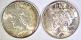 1922 & 24 PEACE DOLLARS CH BU