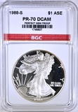 1988-S AMER. SILVER EAGLE BGC PERFECT PR DCAM