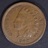 1908-S INDIAN CENT XF