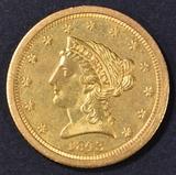 1843-O $2.5 GOLD LIBERTY  CH ORIG UNC