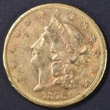 1876-CC $20 GOLD LIBERTY  ORIG UNC LT OLD CLEANING