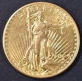 1924-D $20 GOLD ST. GAUDENS  NICE BU
