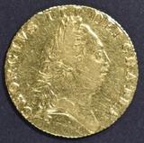 1789 GREAT BRITAIN SPADE GUINEA 3  XF