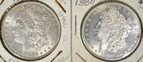 1880-S & 1886 MORGAN DOLLARS, BU NICE LUSTRE!