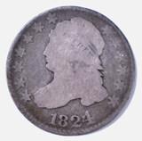 1824/2 BUST DIME, G/ VG
