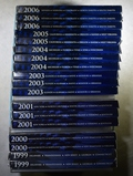 3 EACH 1999-2001, 2003-2006 PROOF STATE QUARTERS