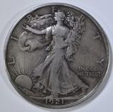 1921-D WALKING LIBERTY HALF DOLLAR  VF/XF