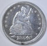 1854 SEATED LIBERTY QUARTER  AU/BU