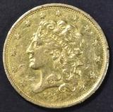 1834 $5 GOLD CLASSIC HEAD  AU