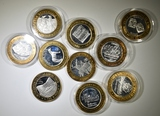 10 LIMITED EDITION $10 SILVER GAMING TOKENS