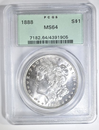1888 MORGAN DOLLAR PCGS MS-64 OGH